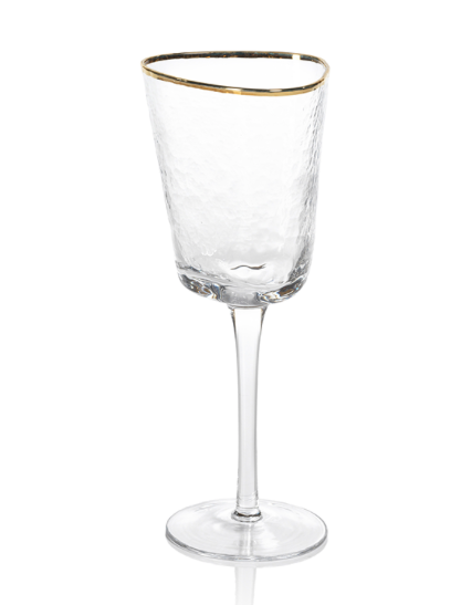 Zodax - Aperitivo Triangular Wine Glass - Clear