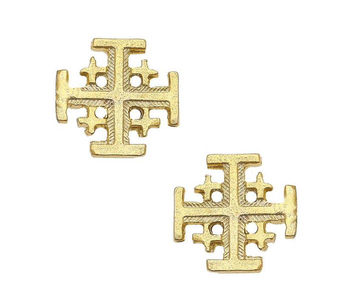 Susan Shaw - Gold Multi Cross Stud Earring