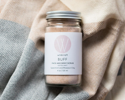 Exfoliate with our Buff Face and Body Scrub