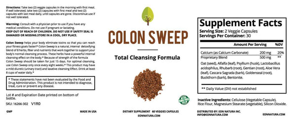 Colon Sweep Cleanse and Detox
