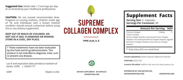 Supreme Collagen Complex Type I, II, III, V, X