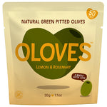 Oloves Lemon & Rosemary Natural Green Pitted Olives, 30g