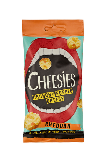 Cheesies Crunchy Popped Cheese Snack, Cheddar