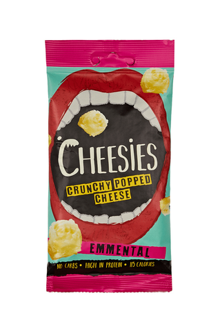 Cheesies Crunchy Popped Cheese Snack, Emmental