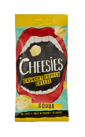 Cheesies Crunchy Popped Cheese Snack, Gouda