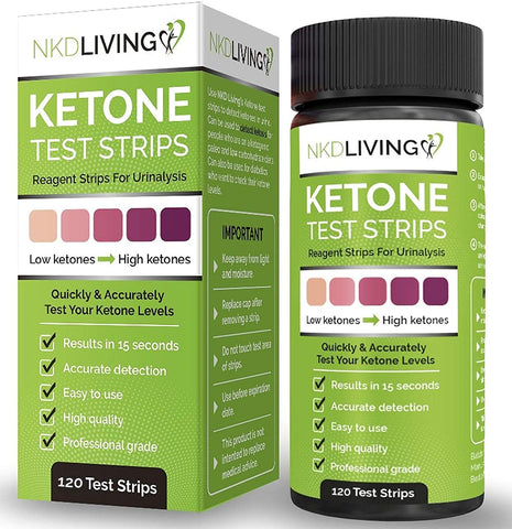 Ketone Test Strips by NKD Living - 120 strips