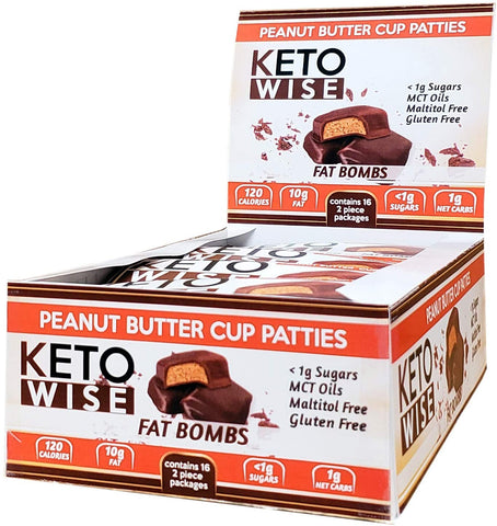 Keto Wise Fat Bombs Peanut Butter Cup Patties - 32g