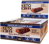 Keto Wise Meal Replacement Protein Bar - Chocolate Almond Blast 60g