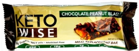 Keto Wise Meal Replacement Protein Bar - Chocolate Peanut Blast 60g