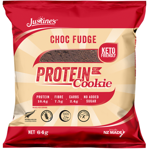 Justine's Keto Friendly Choc Fudge Protein Cookie 64g