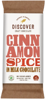 Discover Craft Chocolate - Cinnamon Spice in Milk Chocolate 50g