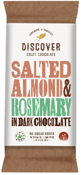 Discover Craft Chocolate - Salted Almond and Rosemary in Dark Chocolate