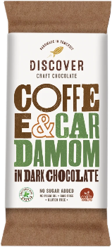 Discover Craft Chocolate - Coffee and Cardamom in Dark Chocolate