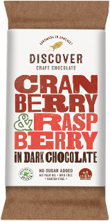 Discover Craft Chocolate - Cranberry and Raspberry in Dark Chocolate
