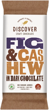 Discover Craft Chocolate - Fig and Cashew in Dark Chocolate 50g