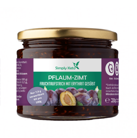 Simply Keto - Plum fruit spread with erythritol, 250g