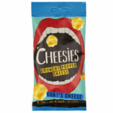 Cheesies Crunchy Popped Cheese Snack, Goats Cheese