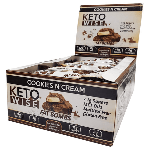 Keto Wise Fat Bombs Cookies and Cream - 32g