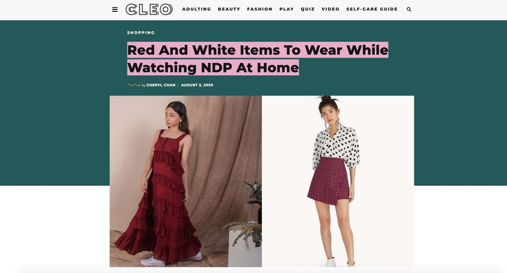 CLEO - red and white items to wear while watching NDP at home | Whispers & Anarchy