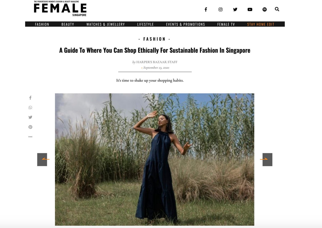 FEMALE MAGAZINE - a guide to where you can shop ethically for sustainable fashion in Singapore | Whispers & Anarchy