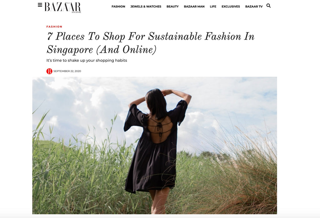 HARPER'S BAZAAR SINGAPORE - 7 places to shop for sustainable fashion in Singapore (and online) | Whispers & Anarchy