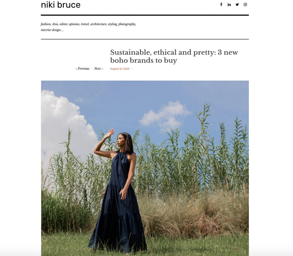 NIKI BRUCE - sustainable, ethical and pretty: 3 new boho brands to buy | Whispers & Anarchy