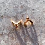 ear hugging triangle stud earrings - Whispers & Anarchy