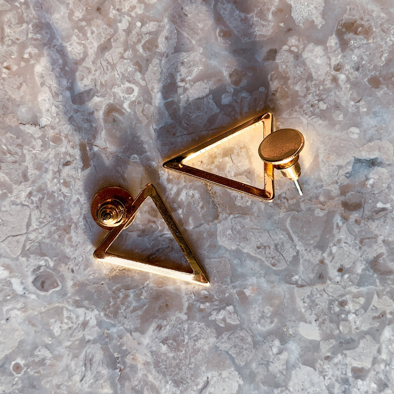 hollow out triangle earrings - Whispers & Anarchy