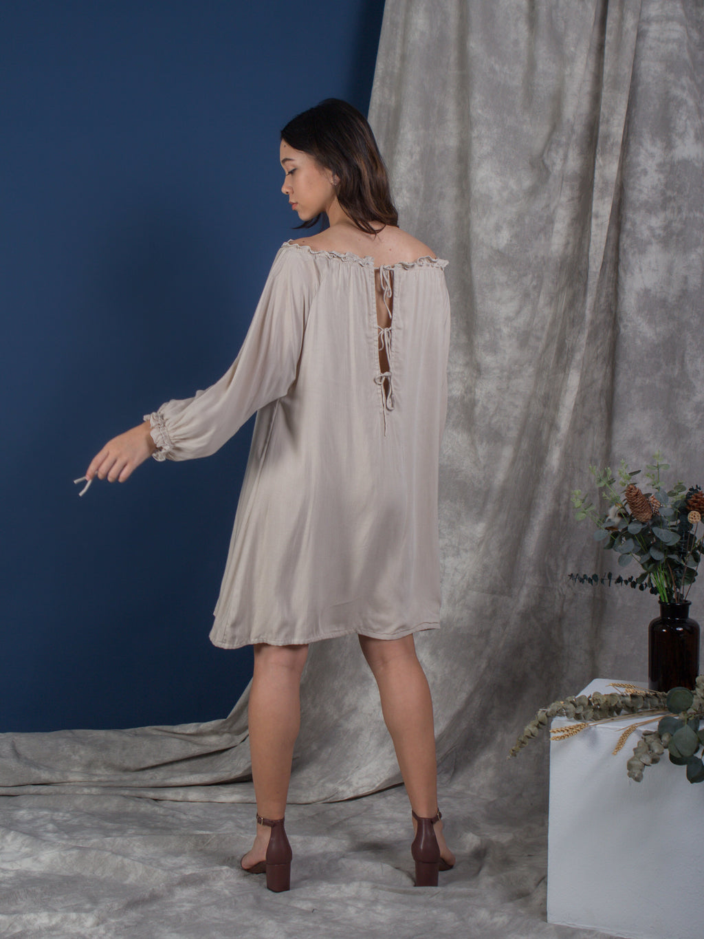 the cold shoulder kaftan - buttercream - Whispers & Anarchy
