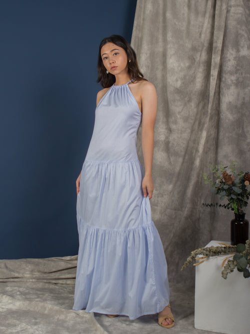 the halter neck maxi dress - blue ice melt - Whispers & Anarchy