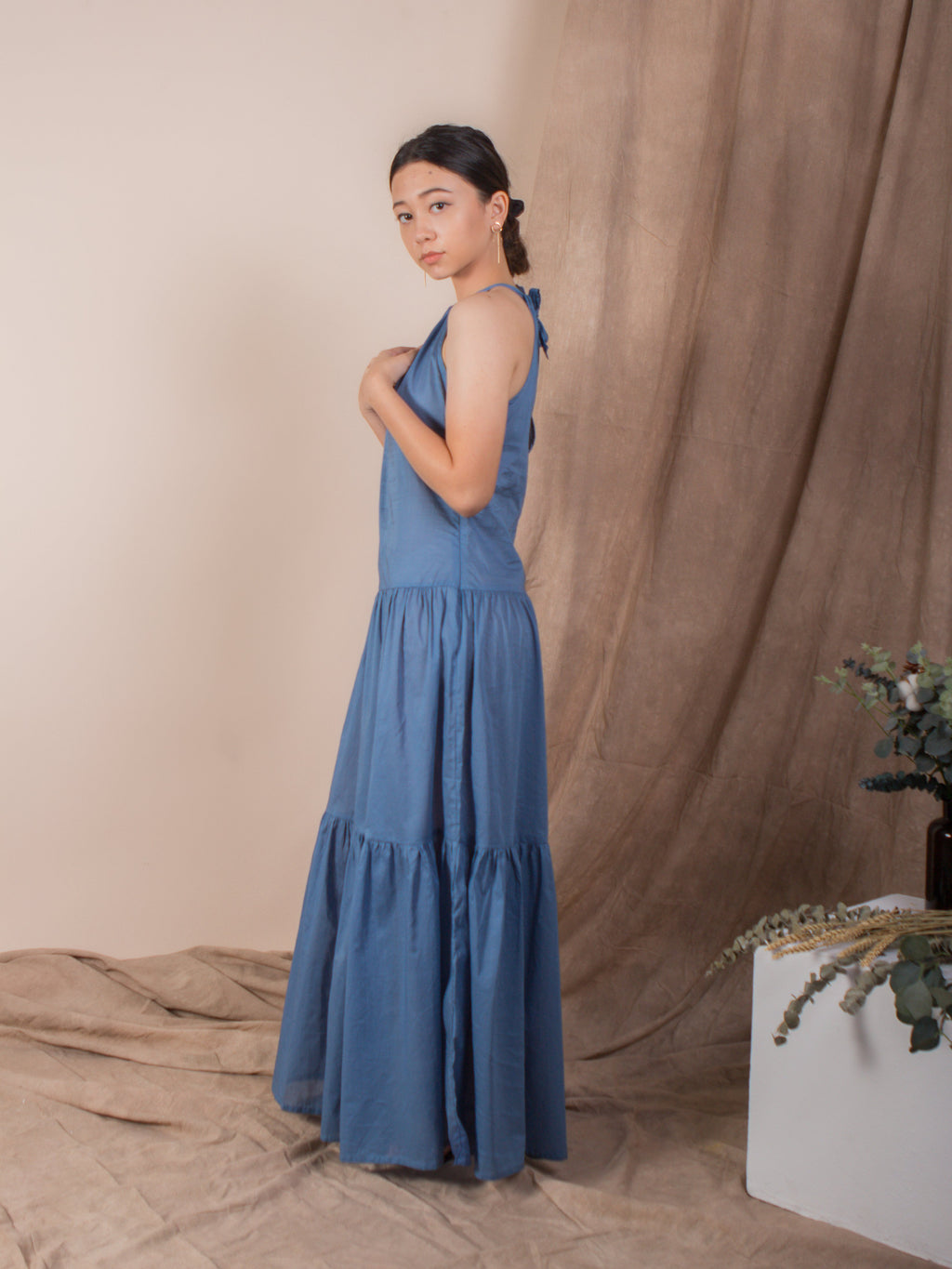 the halter neck maxi dress - indigo - Whispers & Anarchy