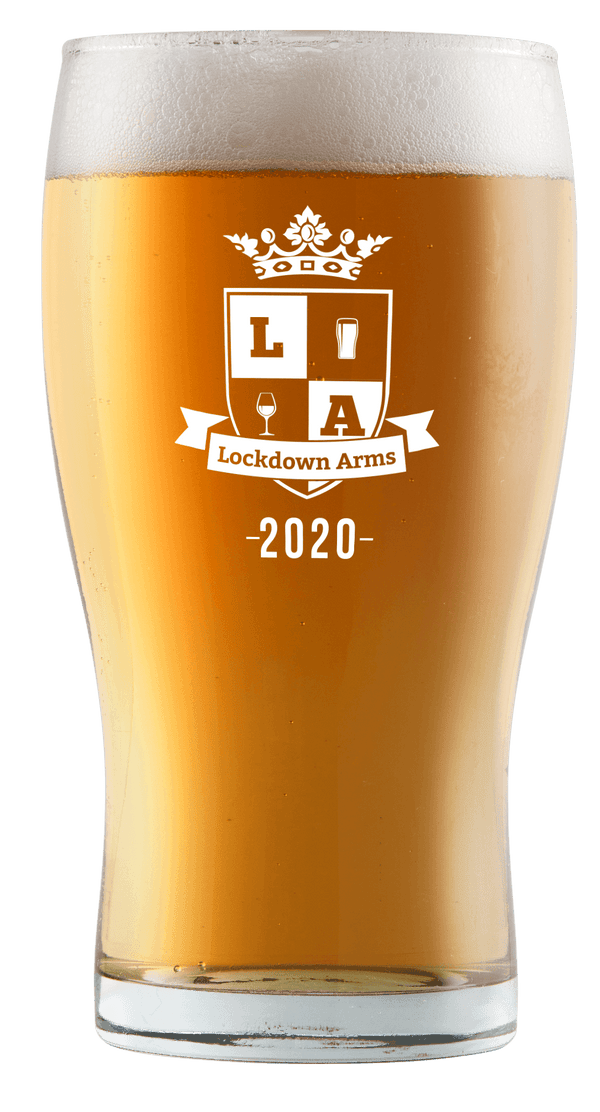 Lockdown Arms pint glass
