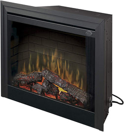 Dimplex BF39DXP 39-Inch Deluxe Built-In Electric Firebox with Resin Logs and Brick Backing