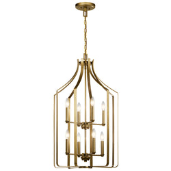 Kichler Eight Light Foyer Chandelier 42498NBR