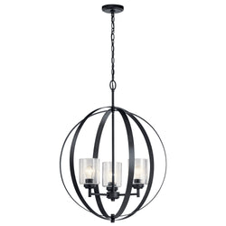 Kichler Three Light Chandelier 44034BK