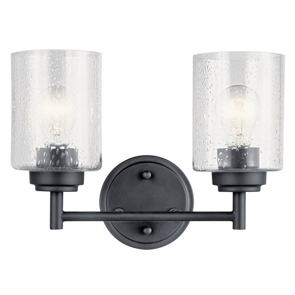 Kichler Two Light Bath 45885BK-Bathroom Fixtures-HomePlumbing