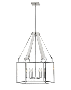 Hinkley 34206PNI Six Light Chandelier