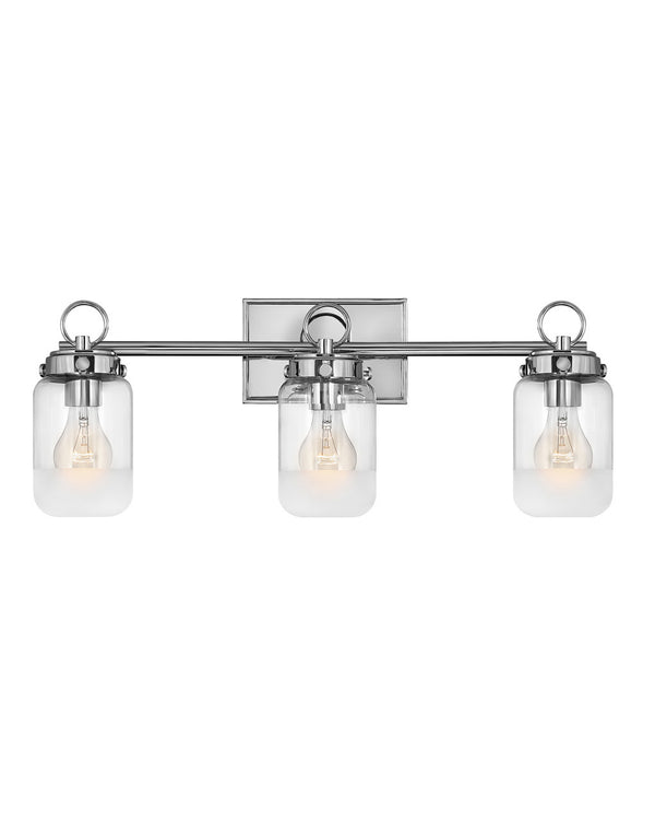 Hinkley 5063PN Three Light Bath-Bathroom Fixtures-HomePlumbing