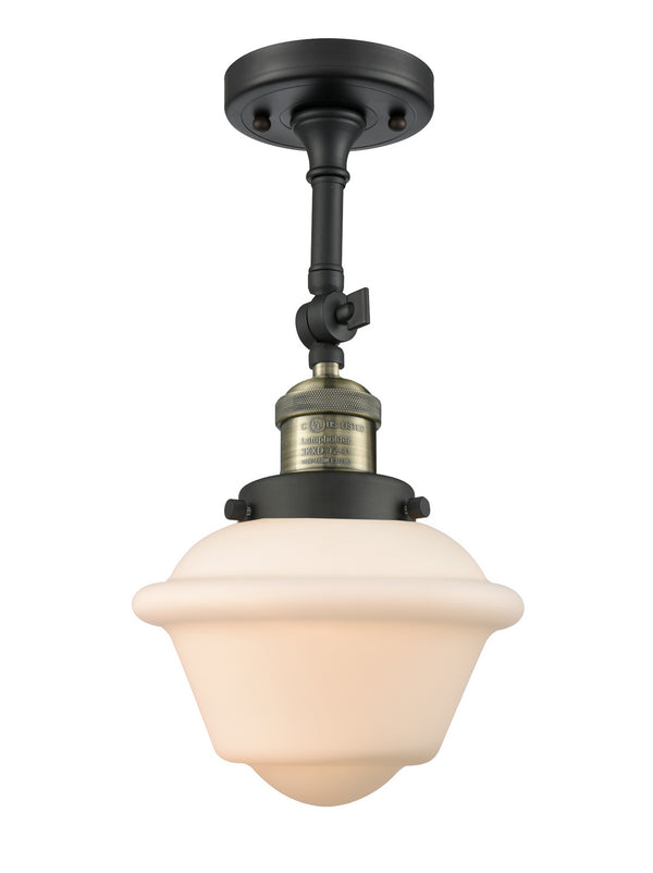 Innovations 201F-BAB-G531 One Light Semi-Flush Mount-Semi-Flush Mts.-HomePlumbing