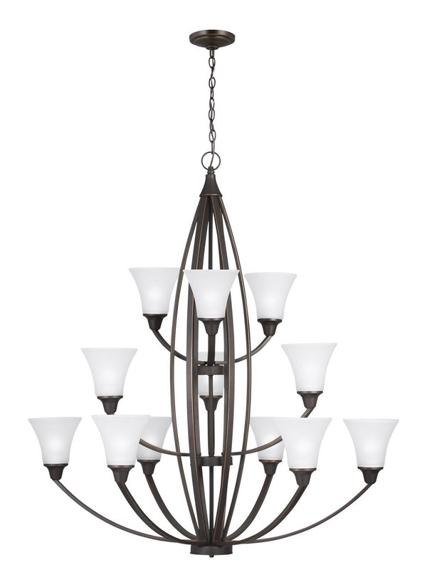 Generation Lighting 3113212-715 12 Light Chandelier-Large Chandeliers-HomePlumbing