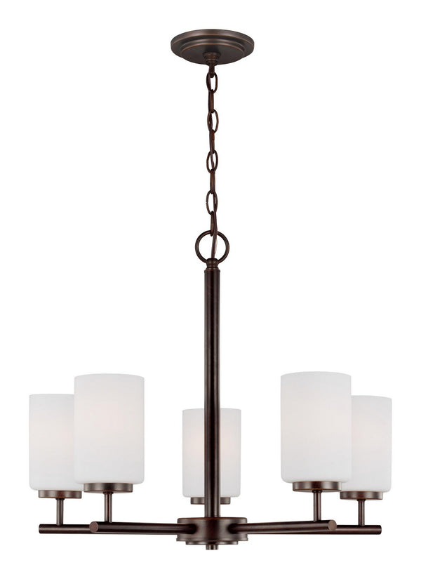 Generation Lighting 31161EN3-710 Five Light Chandelier-Mid. Chandeliers-HomePlumbing
