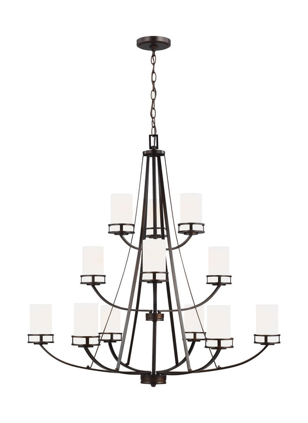 Generation Lighting 3121612-710 12 Light Chandelier-Large Chandeliers-HomePlumbing