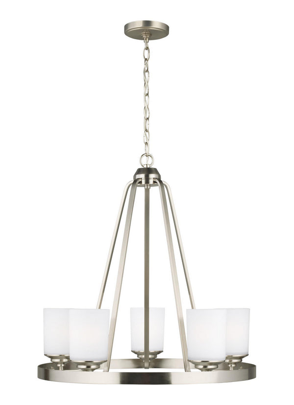 Generation Lighting 3130705-962 Five Light Chandelier-Mini Chandeliers-HomePlumbing