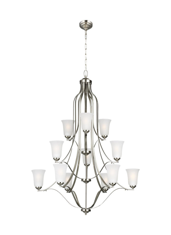 Generation Lighting 3139012EN3-962 12 Light Chandelier-Large Chandeliers-HomePlumbing