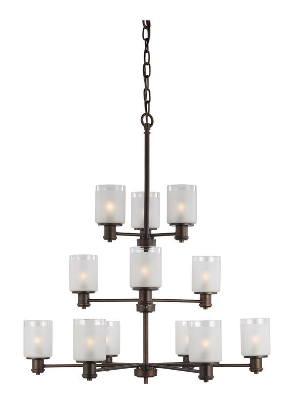 Generation Lighting 3139812EN3-710 12 Light Chandelier-Large Chandeliers-HomePlumbing
