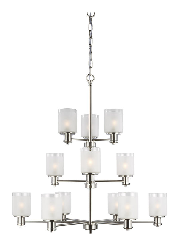 Generation Lighting 3139812EN3-962 12 Light Chandelier-Large Chandeliers-HomePlumbing