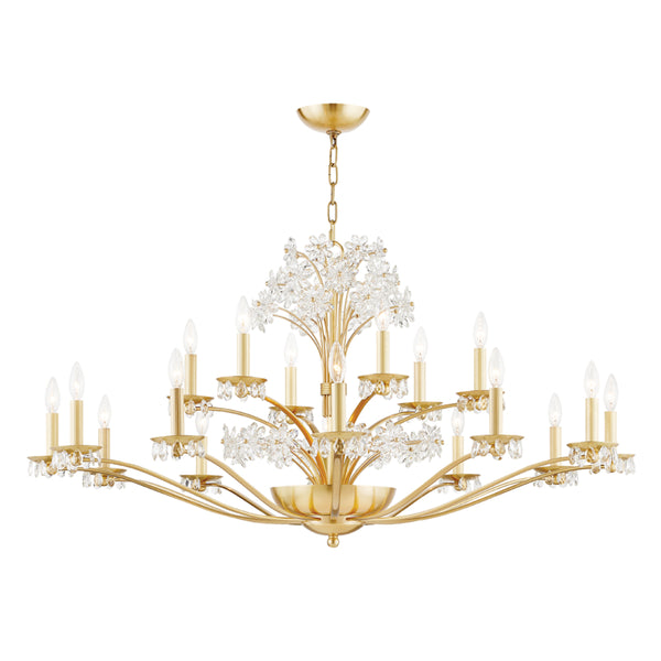 Hudson Valley 4452-AGB 20 Light Chandelier-Large Chandeliers-HomePlumbing