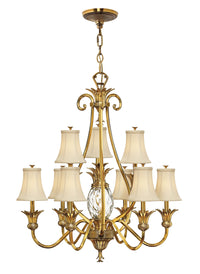 Hinkley 4887BB Ten Light Foyer Chandelier-Mid. Chandeliers-HomePlumbing