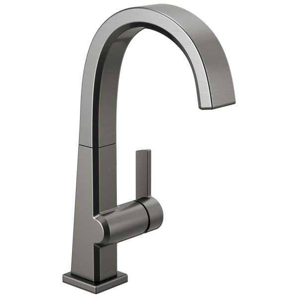 Delta Pivotal 1993LF-KS Single Handle Bar Faucet Black Stainless-Kitchen-HomePlumbing