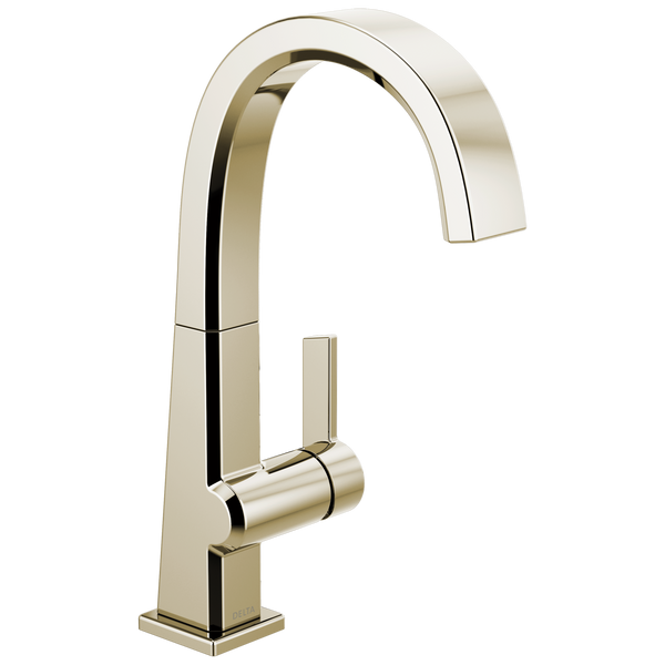 Delta Pivotal 1993LF-PN Single Handle Bar Faucet Polished Nickel-Kitchen-HomePlumbing